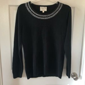 New Debbie Morgan knitted black top Large